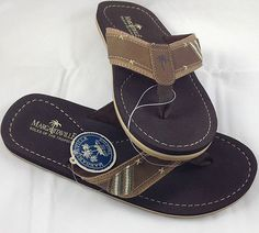 3f6cfbb1bb18 NEW MARGARITAVILLE FLIP FLOPS SANDALS MG1458A COLOR BROWN STYLE CANCUN  Brown Style