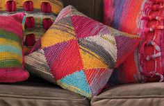 Ravelry: Liberty Wool Pillows pattern by Tonia Barry