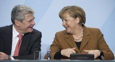 Ein Herz und eine Seele... Joachim Gauck und Angela Merkel.