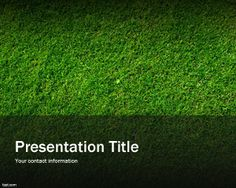 Green grass template for PowerPoint is a grass PowerPoint background for nice presentation designs