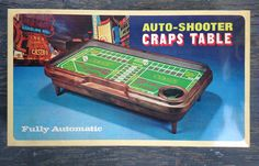 Vintage Vegas AUTO-SHOOTER CRAPS TABLE Gambling BOARD GAMES Family DICE Hotels