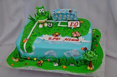 Gummy Bear Cake! Yum! Go for the goal!
