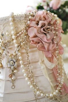 ♥pearls & dusty rose
