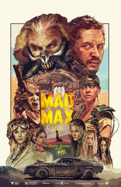 Mad Max: Fury Road by Eliud Rivera - Home of the Alternative Movie Poster -AMP- Mad Max Fury Road, Mad Max Poster, Tom Hardy Mad Max, Imperator Furiosa, Frankenstein Art, Iron Man Art, Bros, Movie Poster Art, Poster Wall
