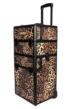 NYX Leopard Cosmetic Train Case. This would be perfect to put all my Mary Kay products in for when I do parties!