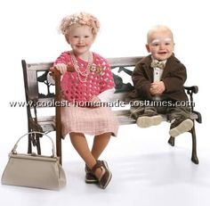 Ainslee needs old lady costume for 100th day of school..cute idea.