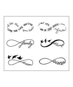 Infinity Symbol Set - Temporary Tattoo (Set of - Tatoo - Mini Tattoos, 12 Tattoos, Cute Tattoos, Body Art Tattoos, Sleeve Tattoos, Tatoos, Tribal Tattoos, Pretty Tattoos, Tattoo Maori