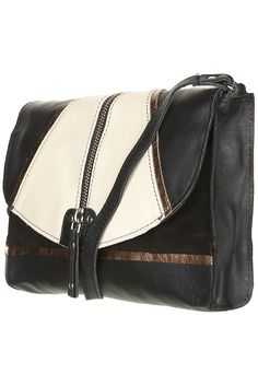 zip front leather crossbody bag