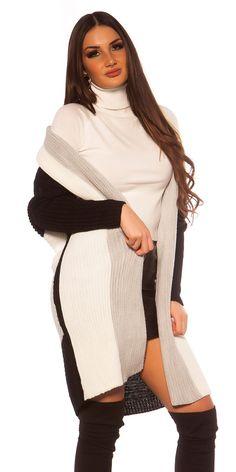 Trendy pruhovaný oversized kardigan bez zapínania. Univerzálna veľkosť. Sweaters, Dresses, Fashion, Vestidos, Moda, Fashion Styles, Sweater, Dress, Fashion Illustrations