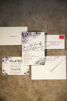 Invitations by Village Invites | Christian Oth Studio | See more on #SMP Weddings -  http://www.StyleMePretty.com/new-york-weddings/2014/01/03/traditional-nyc-wedding-at-gotham-hall/