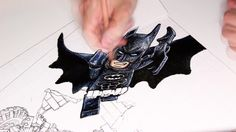 Lego Batman Movie Anamorphic Illusion drawing video
