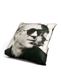 Celebrity Cushion (Steve McQueen). Available at Nina's House on the King's Road, London or at ninashouse.com