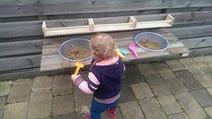 Simpele buiten keuken voor kinderen