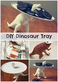 DIY dinosaur tray…definitely one of the greatest things I've ever seen. I will almost certainly be making at least one of these cool toy