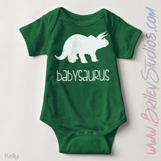 Babysaurus Newborn Baby Outfit, Birth Announcement, Coming Home Outfit, Personalized Baby Shower Gift, Gender Neutral Infant Clothes