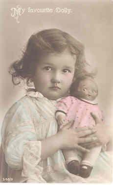 Girl with googly doll - Vintage Google Dolls at Ruby Lane www.rubylane.com #rubylane #googlydoll