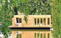 Property sleuth Graham Norwood scours the waterways of Britain for the best in houseboats, barges and sailing boats Prefab Homes, Modular Homes, Cabin Homes, Barge Boat, Floating House, Boat Design, The Good Place, Building A House, Exterior