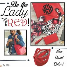 New Red items for Fall 2016. Visit www.mythirtyone.com/candicesalmon to see more products in this beautiful new print.
