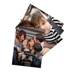 A simple verse adorned with your photos makes the front of this unique card extra special! Each card fans out from under each other like a swatch book—Super Fancy! #holidayCards #ChristmasCards #PremiumCards