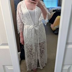 Long lace bridal robe Lace robe Long lace robe Bride robe | Etsy Lace Bridal Robe, Bridal Party Robes, Bridesmaid Robes, Lace Weddings, Etsy, Lace Wedding Dress