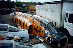 Specially Painted F-4 'Tiger' Phantom Fighter Meets the Axe