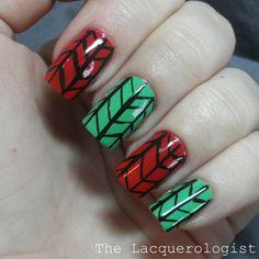 kwanzaa themed nail art