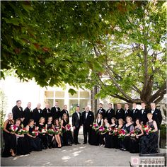 We loved this big wedding party. #weddings #weddingparties #black #nepweddings #weddingphotography