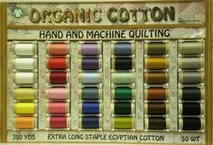 Organic Cotton Sewing Thread for Embroidery or Quilting from Uncommonthread