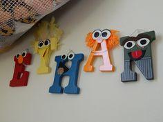 Custom-Made Wooden Nursery Letters - Sesame Street Characters seen here. $11.50, via Etsy.