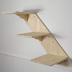 Diy Cat Shelves, Cat Climbing Shelves, Cat Wall Furniture, Cat Stairs, Cat Perch, Wood Cat, Cat Hammock, Cat Room, Space Cat
