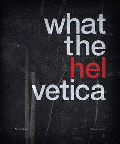 Helvetica Typography Poster Design