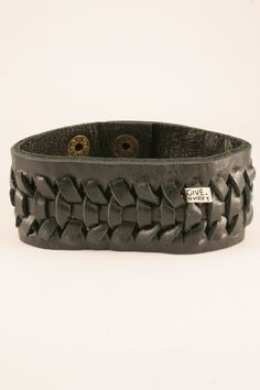 Leather Bracelet-Black $15