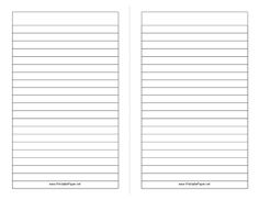 Lined sheets for writing
