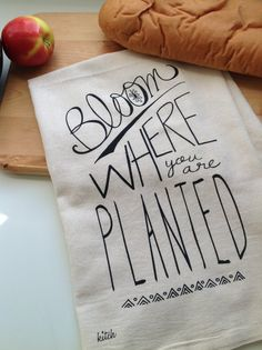 Hand Screen Printed Dish Towel (1) By KITCH...Sure To Cute