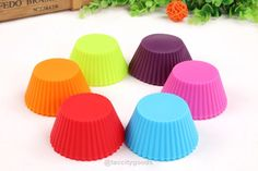 12pc Silicone Cupcake Muffin Molds - 6 Colors - Kitchen Gadgets - Tac City Goods Co - 2 Link in the bio
