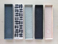 Plateau long en céramique Elizabeth Benotti