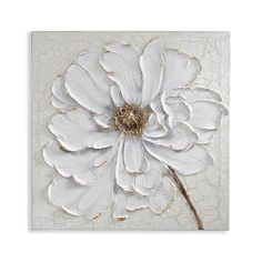 Best 12 Textural and sophisticated, the striking Plaster Floral Canvas Wall Art from Arthouse brings a chic touch to any space. An understated color palette and rich detail come together in this unique, statement-making piece. Canvas Wall Decor, Diy Canvas, Acrylic Painting Canvas, Diy Painting, Canvas Art, Painting Flowers, Acrylic Wall Art, Canvas Ideas, Painting Abstract