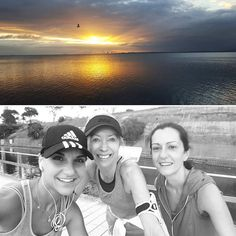 Today we ran the #geelongwaterfront ramps at sunrise. And what a stunning #sunrise it was! Love #running and #coffee catchups with these 2  #weekends #geelong #grateful #girltime by mariekladas http://ift.tt/1JtS0vo