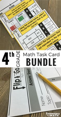 This 4th grade math task card bundle contains a variety of questions types aligned with the third grade common core math standards. They can be used for morning work, test prep, early finishers, math centers, formative assessment and so much MORE!
