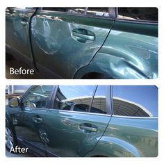 Side swiped damage GONE! No job is too big for Classic Autobody