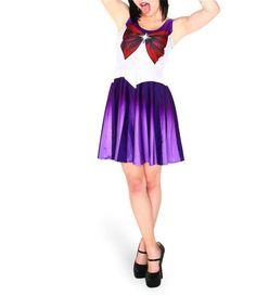 Qickitout Dress 2015 Summer Dresses Women Clothing Sailor Moon Style Cosplay Costume DRESS Pleated Dresses Sundress Drop Ship