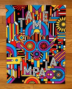 Tame Impala - Greek Theater Berkeley 2 Gig Poster