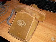Cache vintage en velours pour téléphone à cadran