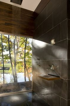 amazing spa bathroom.. If a tree ever falls into the house, it WILL be remodeled with this feature!