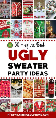 Are you hosting or going to an Ugly Sweater Party this holiday season? Well, fear not cause we've got a ton of the best Ugly Sweater Party Ideas rounded up for you in a pretty little package! PIN NOW to save The Best Ugly Sweater Ideas for Christmas Parties! #christmas #partyideas #uglychristmassweaterparty #xmas #uglysweaterparty