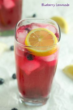 Refreshing blueberry lemonade that is perfect for the warmer days when you need something delicious to quench your thirst! Made with only a few ingredients!