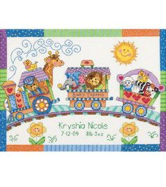 Dimensions Counted Cross Stitch Baby Express Birth Record, , hi-res