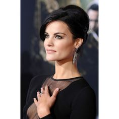 A beehive updo allowed Jaimie Alexander to show off her oversize   10... ❤ liked on Polyvore featuring hair