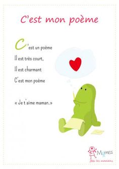 poeme court maman French Lessons, Mother And Father, Learn French, School Projects, Preschool Activities, Mom And Dad, Parents, Fathers Day, Messages