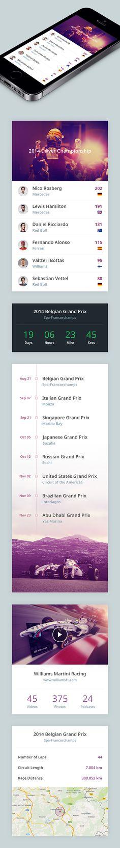 F1 App on Behance